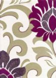 Reflections Divine Lavender Wallpaper 1912/805 By Prestigious Textiles
